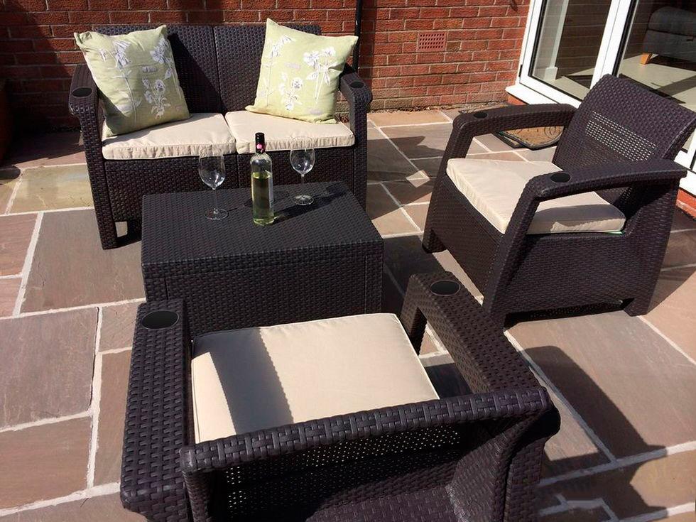 Комплект мебели yalta terrace set (set) с подстаканниками - .