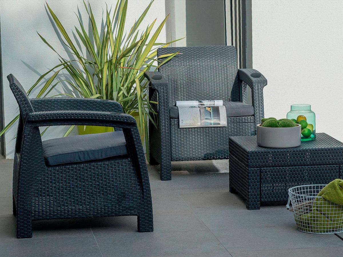 Комплект мебели yalta balcony set (weekend) с подстаканникам.