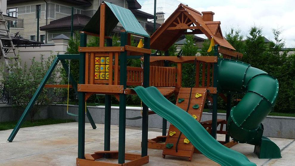 Красками осень, картинки с детскими площадками