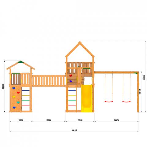 JB5 Jungle Palace + Bridge Link + Cottage (без горки) + Swing + Rock