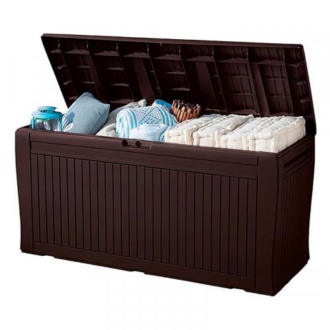 Пластиковый ящик для хранения Comfy коричневый