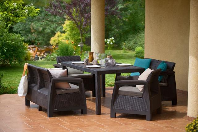 Обеденный комплект мебели Corfu Fiesta (Keter - Израиль)