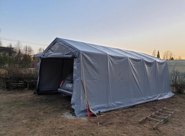 Тентовый гараж (укрытие) 3,7x6,1x2,4 м (ShelterLogic)