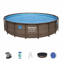Каркасный бассейн Ротанг 56977 BW (549x122см)