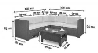 Угловой комплект Provence Set (размеры)