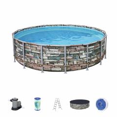 Каркасный бассейн Камень 56966 BW 488x122см