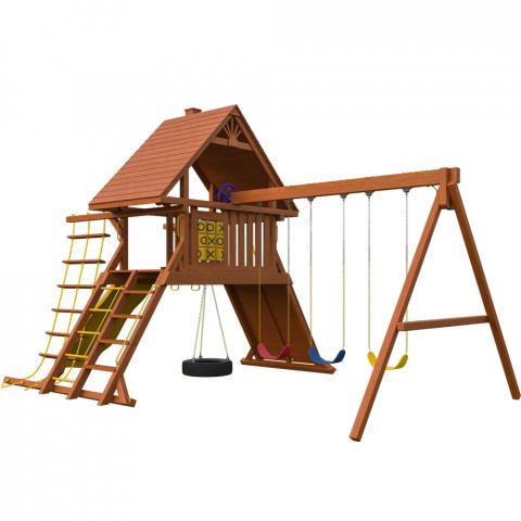 Зарница с деревянной крышей